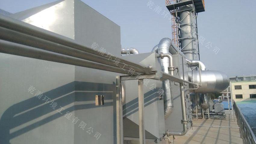 上海某包装厂沸石转轮+CO成套设备60000m3/h